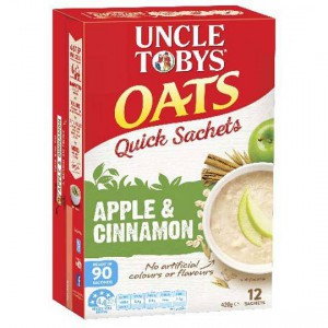 Uncle Toby's Quick Sachets Apple Cinnamon
