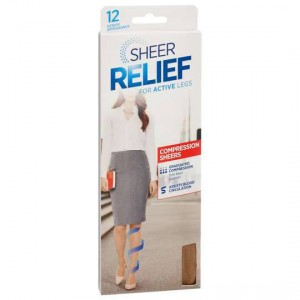 Sheer Relief Firm Compress Tights 12d Natural Average
