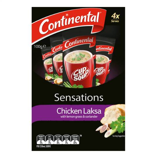 Continental Sensations Chicken Laksa Soup With Lemon Grass & Coriander