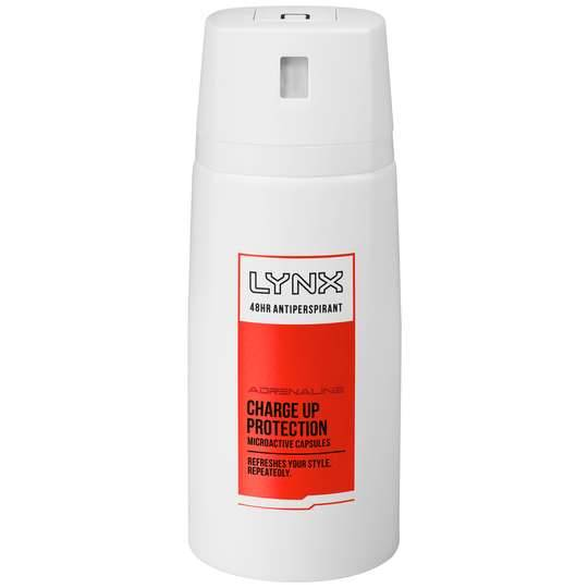 Lynx Antiperspirant Deodorant Adrenaline Chargeup Protection