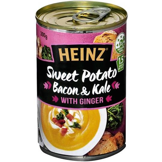 Heinz Soup Sweet Potato Kale Ginger