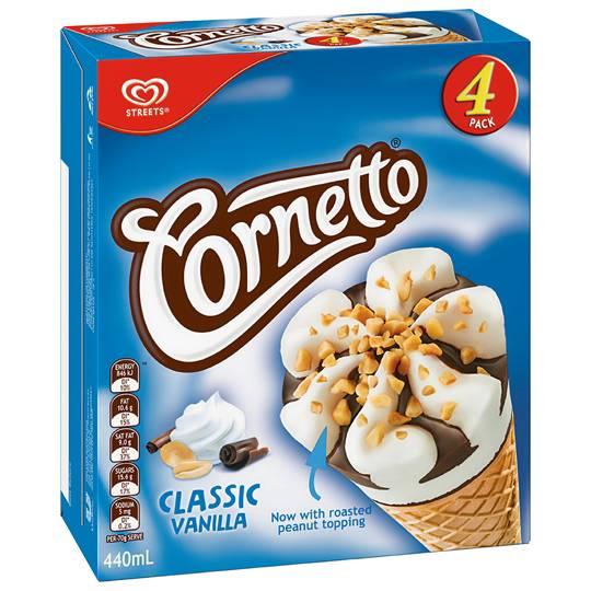 Streets Cornetto Ice Cream Classic Vanilla