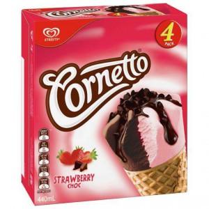 Streets Cornetto Ice Cream Classic Strawberry Choc