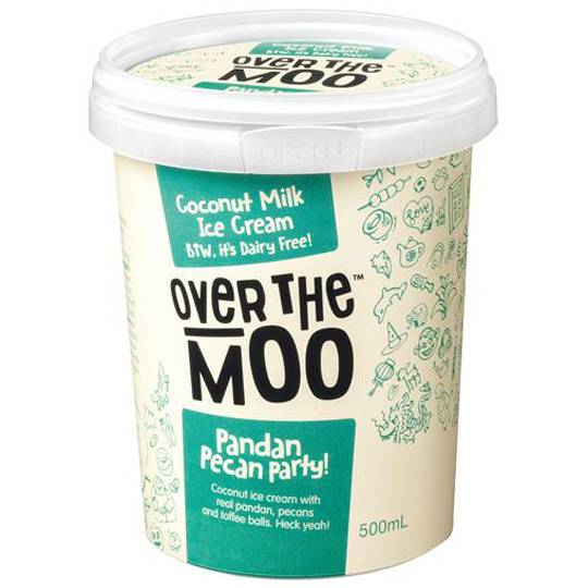 Over The Moo Dairy Free Ice Cream Pandan Pecan Party!