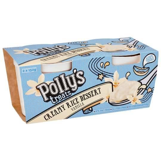 Pollys Treats Creamy Rice Dessert Vanilla