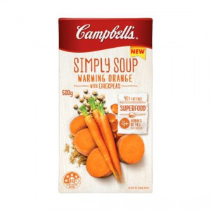 Campbells Simply Soup Warming Orange With Chickpeas