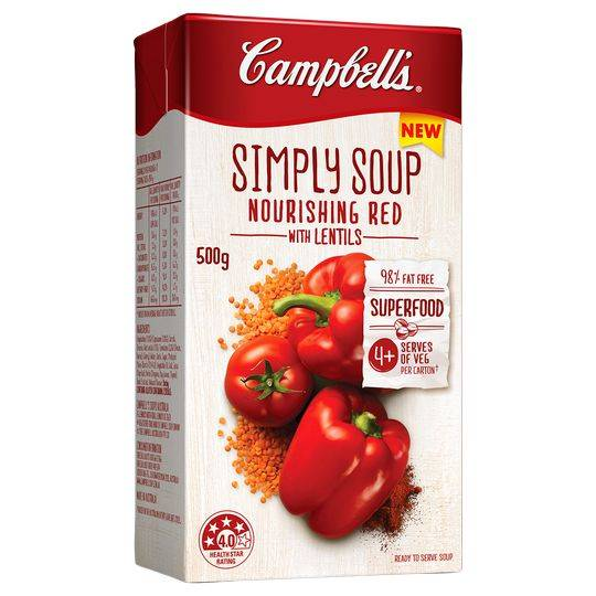 Campbells Simply Soup Nourish Reds With Lentils
