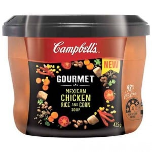 Campbells Gourmet Soup Mexican Chicken, Rice & Corn