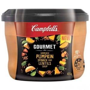 Campbells Gourmet Soup Pumpkin, Spinach & Lentil