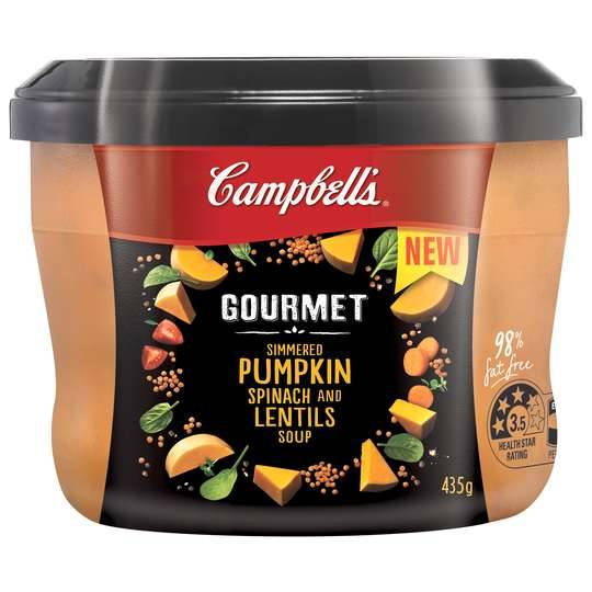 Riss Nixon reviewed Campbells Gourmet Soup Pumpkin, Spinach & Lentil