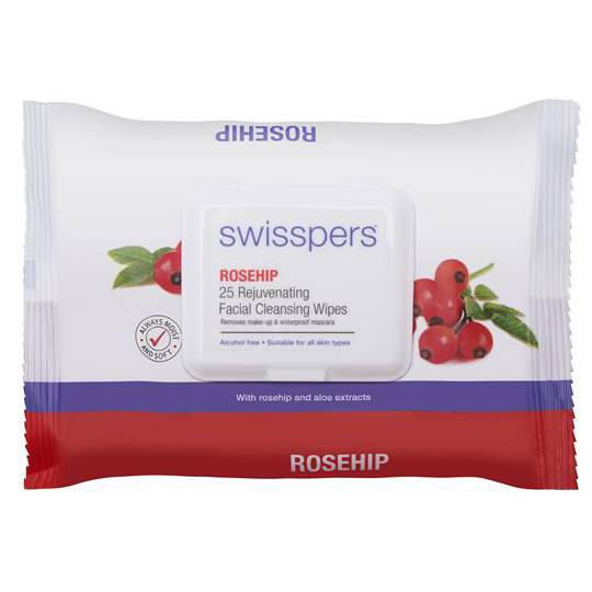 Swisspers Facial Wipes Rosehip