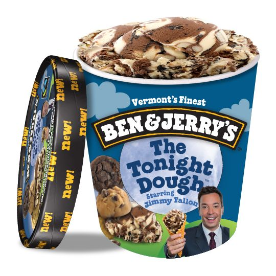 Ben & Jerry's Ice Cream Jimmy Fallon The Tonight Dough