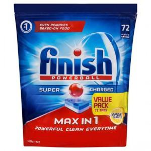 Finish Dish Washing Tablets Max In 1 Lemon