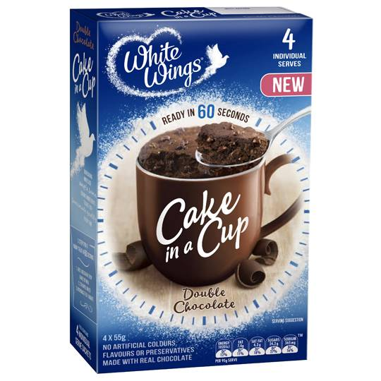 White Wings Cake In A Cup Double Chocolate