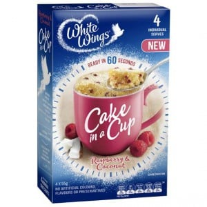 White Wings Cake In A Cup Raspberry & Coconut