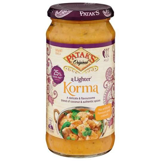 Pataks Light Korma Sauce