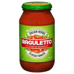 Raguletto Pasta Sauce Italian Herbs
