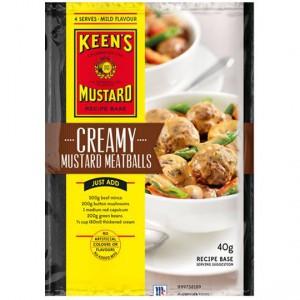 Keens Recipe Base Creamy Mustard Meatballs