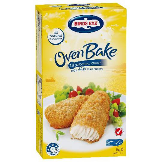 Birds Eye Oven Bake Fish Original Crumbed