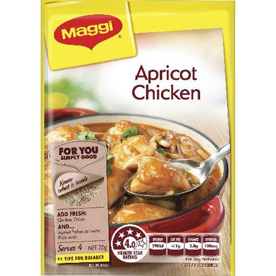 Maggi Apricot Chicken Recipe Base