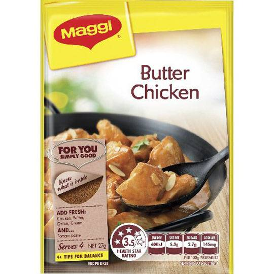 Maggi Butter Chicken Recipe Base