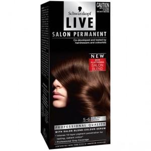 Scharzkopf Live Salon Hair Colour 5.6 Auburn Brown