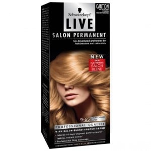 Scharzkopf Live Salon Hair Colour 9.55 Golden Caramel Blonde