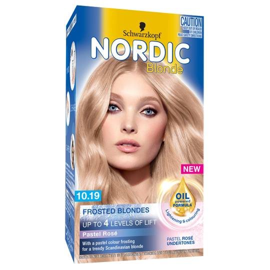 Scharzkopf Nordic Blonde Hair Colour 10.19 Frosted Pastel