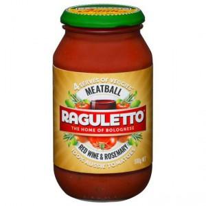 Raguletto Pasta Sauce Meatball