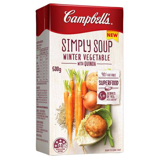 Campbells Simply Soup Winter Vegetables With Quinoa