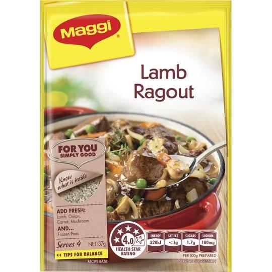 Maggi Lamb Ragout Recipe Base