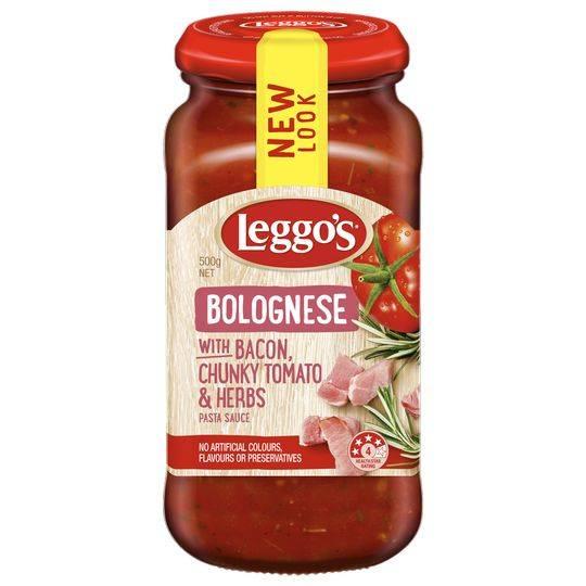Leggos Pasta Sauce Bolognese Bacon
