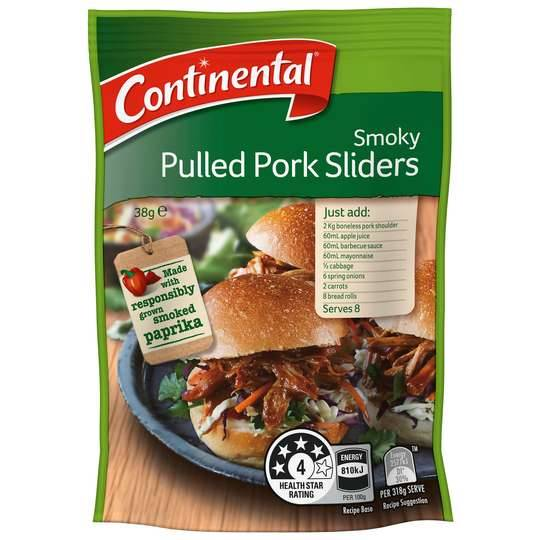 Continental Recipe Base Smoky Pulled Pork Sliders