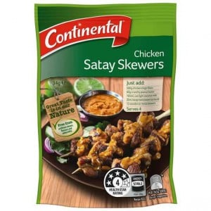 Continental Recipe Base Chicken Satay Skewers