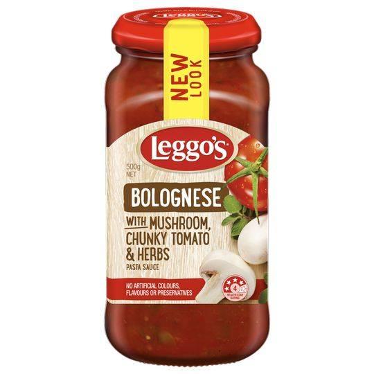 Leggos Pasta Sauce Bolognese Mushroom