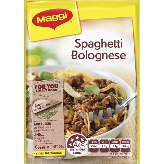 Maggi Spaghetti Bolognaise Recipe Base