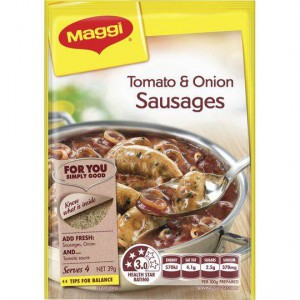 Maggi Tomato & Onion Sausages Recipe Base