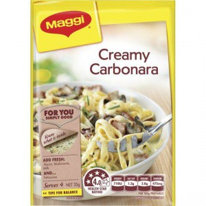 Maggi Creamy Carbonara Recipe Base