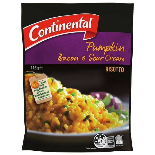 Continental Pumpkin Risotto Bacon & Sour Cream