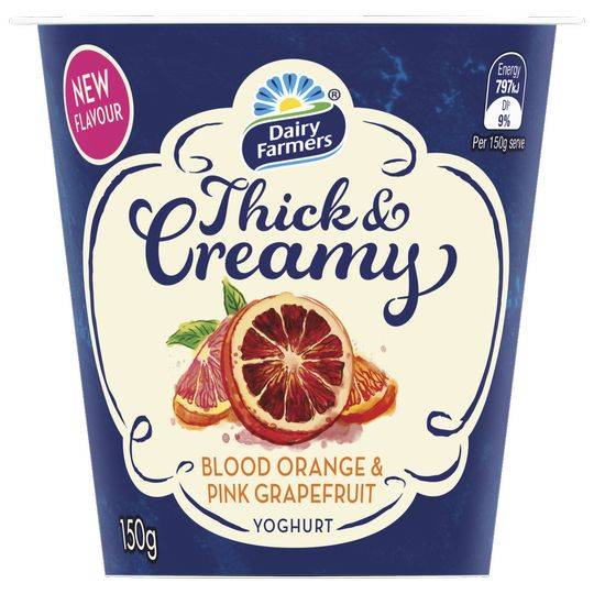 Dairy Farmers Thick & Creamy Yoghurt Blood Orange & Grapefruit