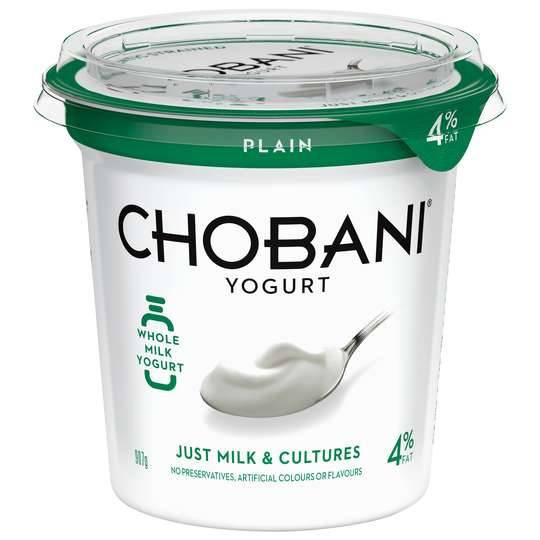 Chobani Greek Yoghurt Plain Whole Milk