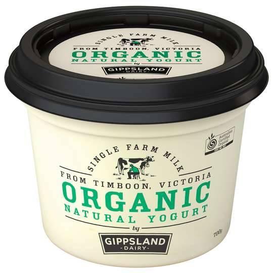 Gippsland Organic Natural Yoghurt