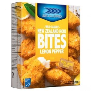 Sealord Hoki Fillets Fish Bites Lemon & Pepper