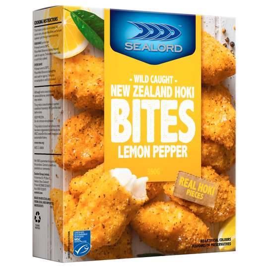 Sealord Hoki Fillets Fish Bites Lemon & Pepper