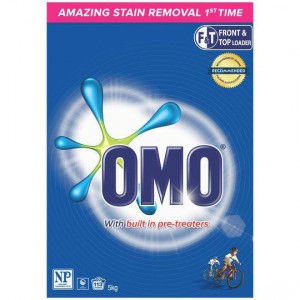 Omo Active Clean Laundry Detergent Washing Powder Front & Top Loader