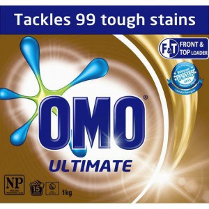 Omo Ultimate Laundry Detergent Washing Powder Front & Top Loader
