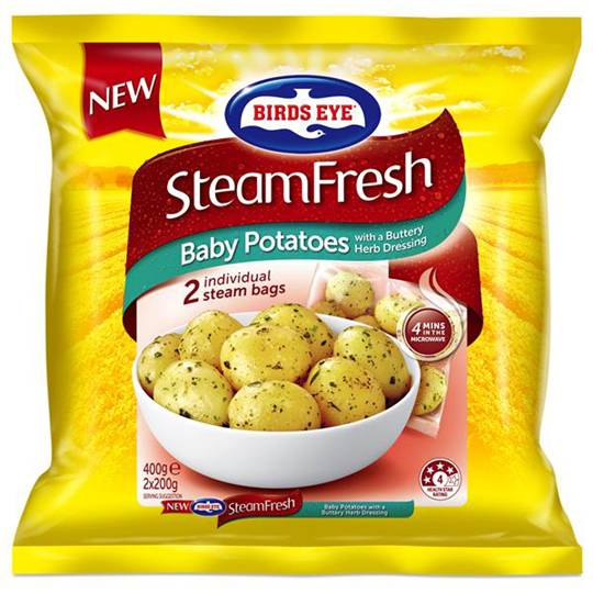 Birds Eye Steam Fresh Baby Potatoes With Herbs & Butter