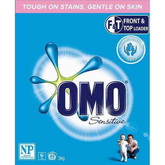 Omo Sensitive Laundry Detergent Washing Powder Front & Top Loader