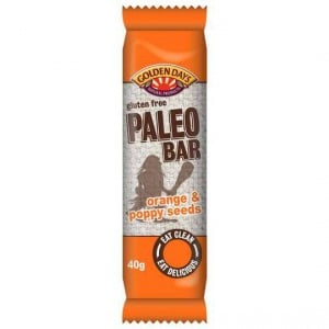 Golden Days Paleo Bar Orange & Poppy Seed