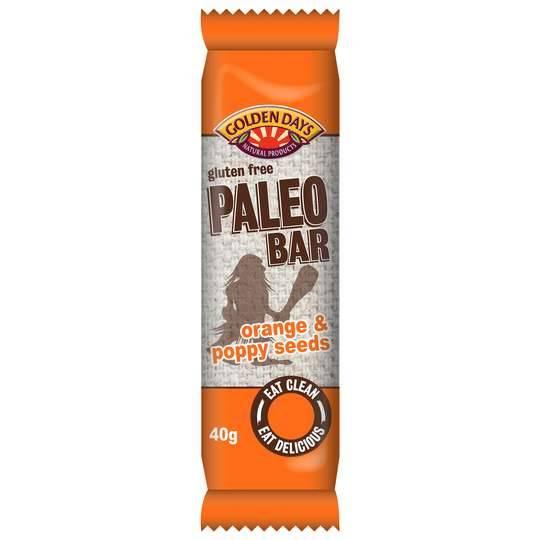 Golden Days Paleo Bar Orange & Poppy Seed